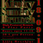 Kinky Sunday Brunch - Flyer